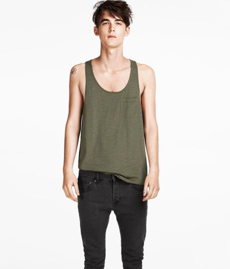 H&m Tank Top in Green For