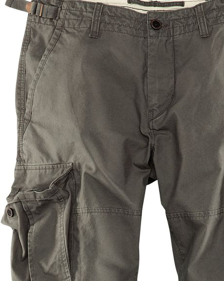 Simple Hu0026m Cargo Pants In A Lyocell Mix In Gray | Lyst