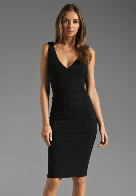 black v neck dress - Gowns and Dress Ideas
