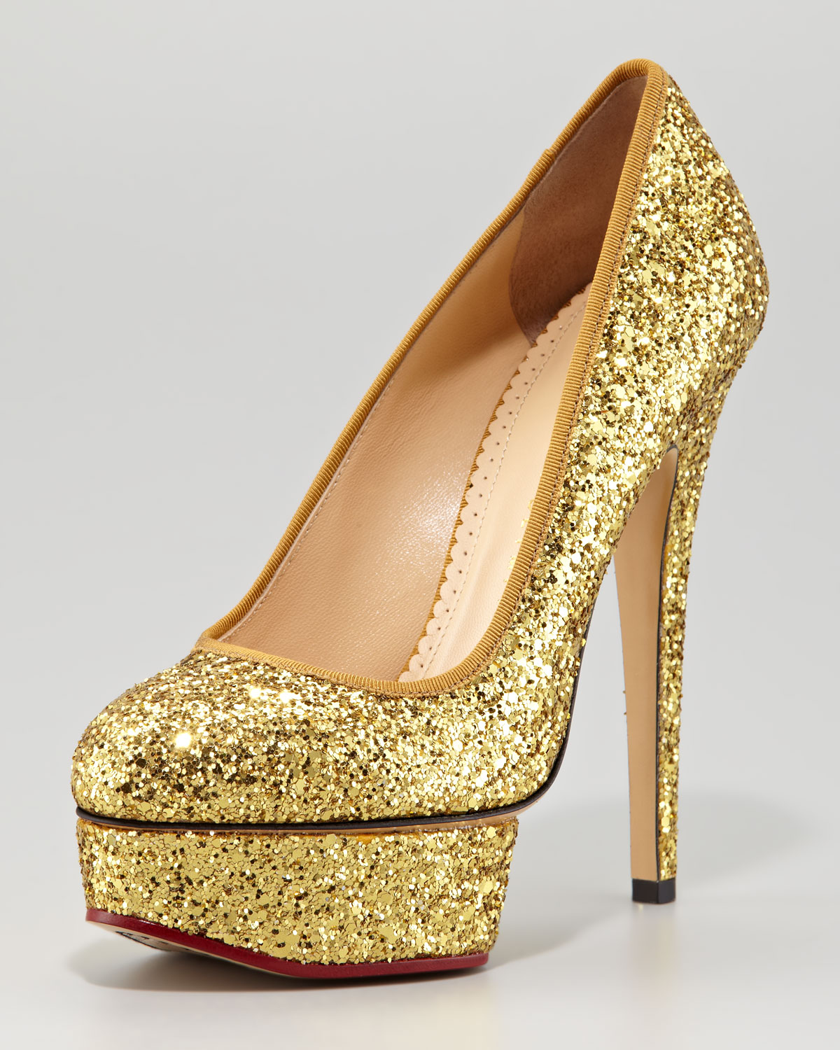 Charlotte Olympia Metallic Glitter Pumps outlet wide range of sale online shopping collections sale online outlet visit excellent cheap price b0IkVOQg