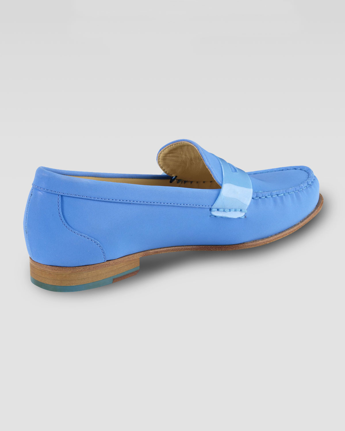 Lyst Cole Haan Air Monroe Suede Penny Loafer In Blue