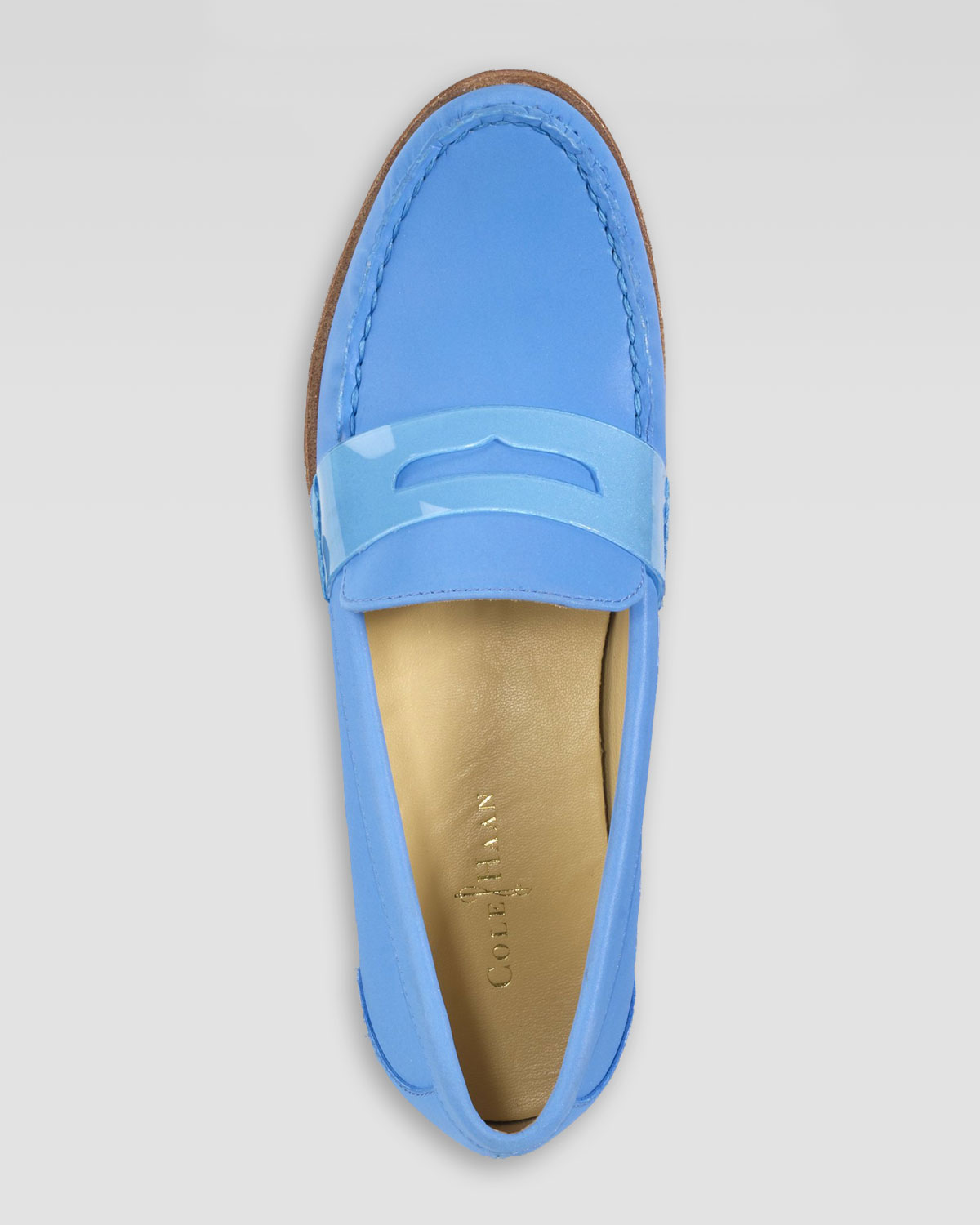 c187231235a Lyst - Cole Haan Air Monroe Suede Penny Loafer in Blue