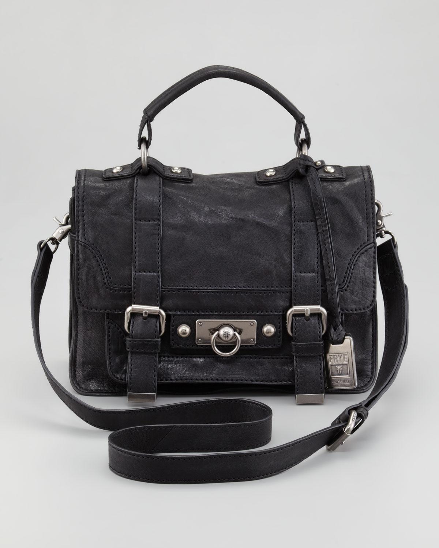 a5354de482 Lyst Frye Eron Small Satchel Bag In Black. Demi Hobo