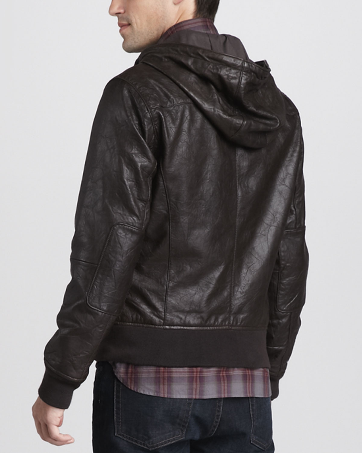 Find great deals on eBay for mens hooded leather bomber jacket. Shop with confidence.