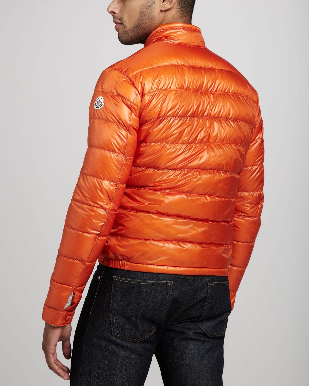 moncler orange coat
