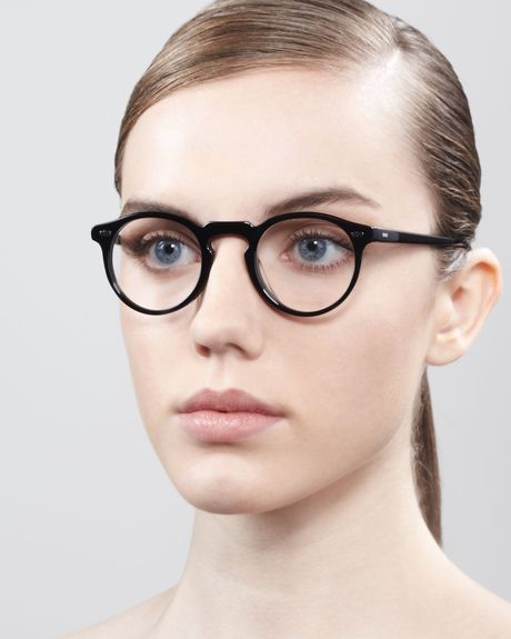 Oliver Peoples Silver Screen Fashion Glasses Black In