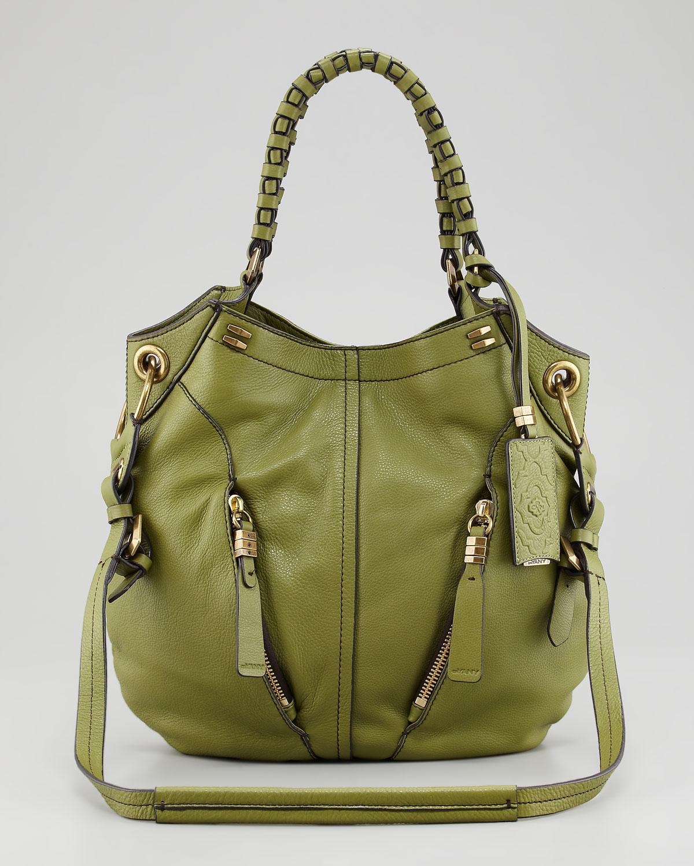 Oryany Gwen Leather Shoulder Bag in Green | Lyst
