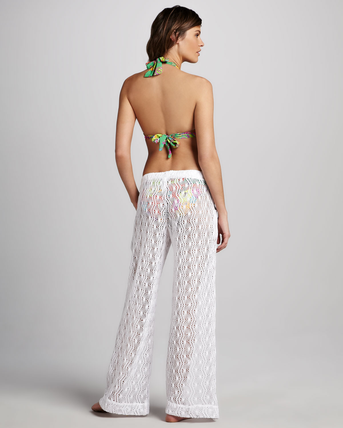 Trina Turk Boho Crochet Beach Pants In White Lyst
