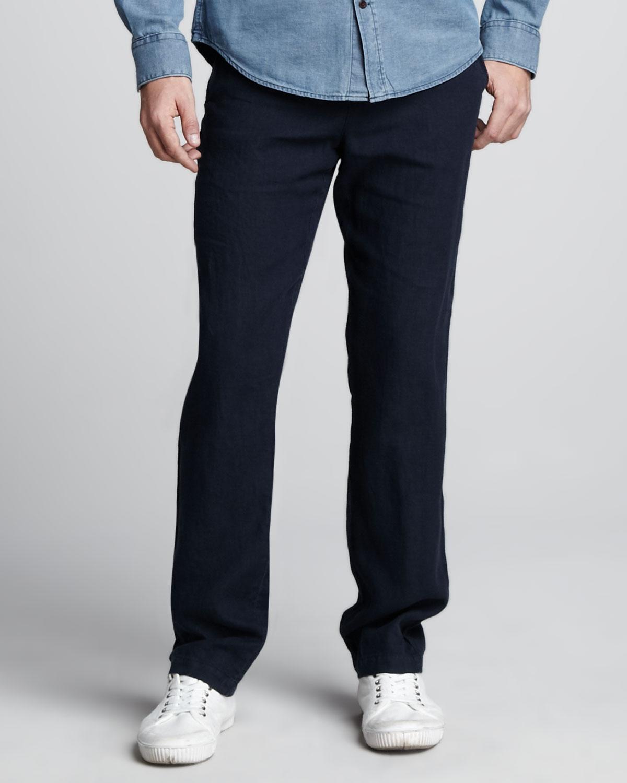 Drawstring Pants Linen Black Black Linen Drawstring Pants
