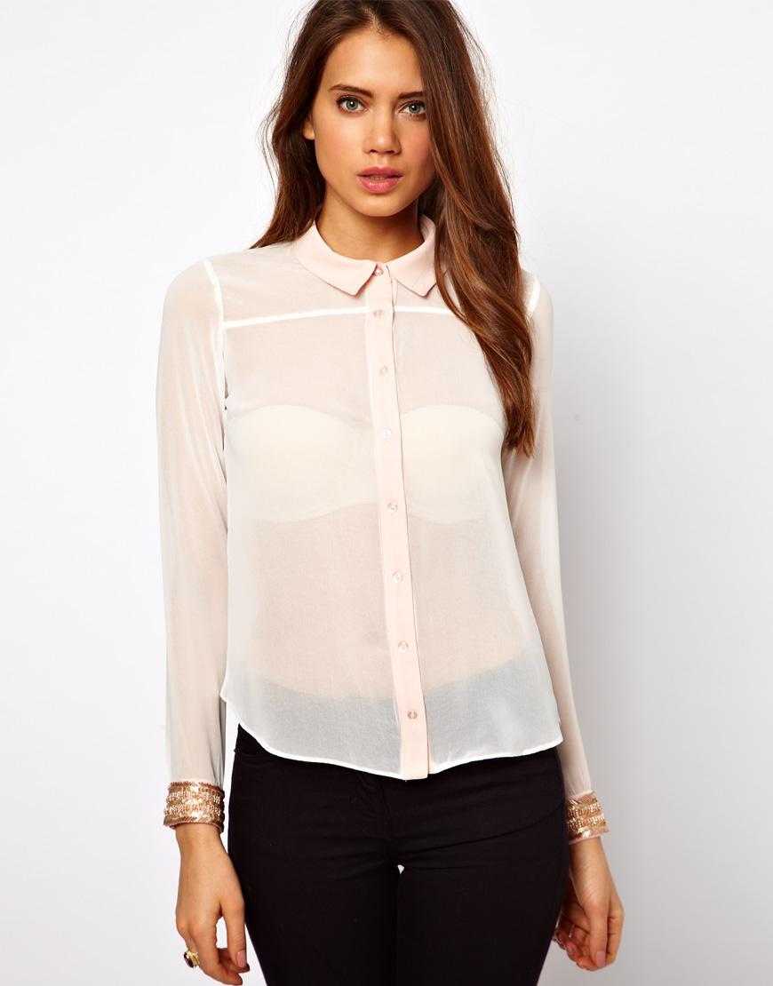 Блузки прозрачные женские