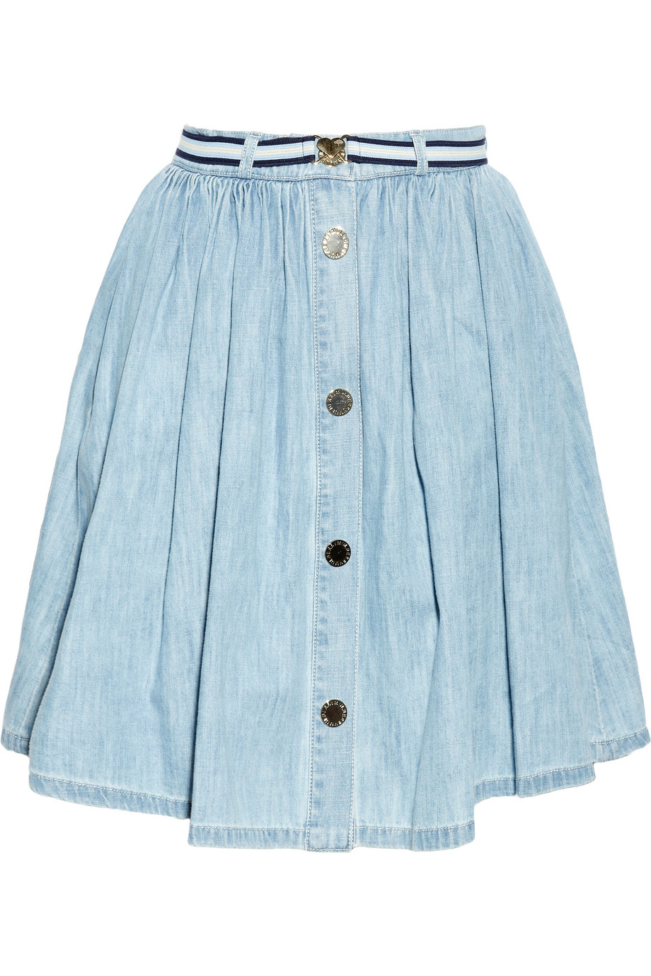 pleated denim skirt dress ala