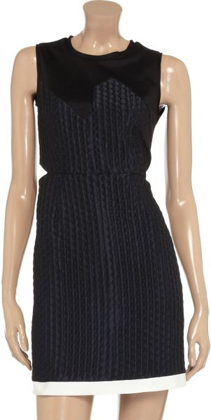 Pringle Of Scotland Brocade And Jersey Dress In Black Lyst