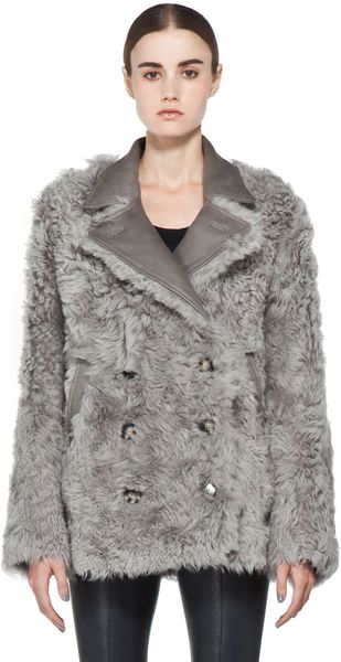 Acne Alison Coat in Grey - Lyst