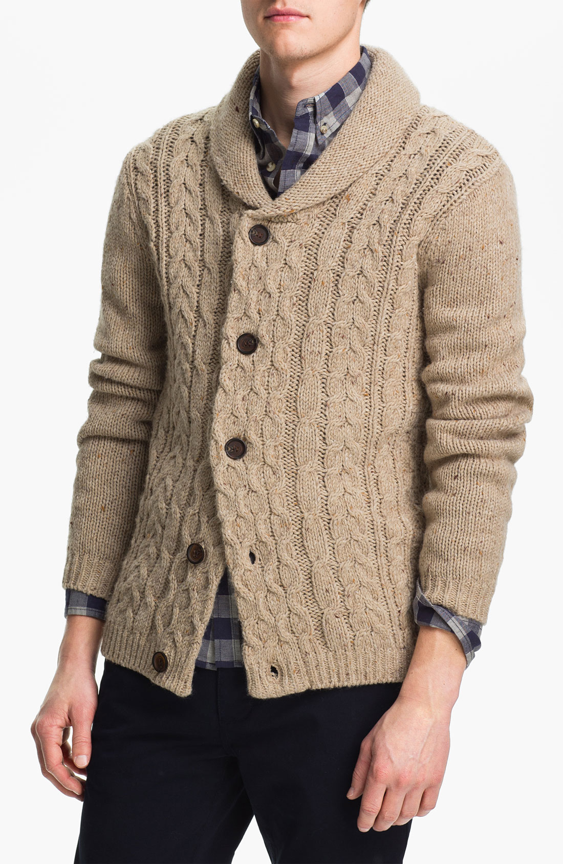 Topman Cable Knit Shawl Collar Cardigan in for Men (color ...