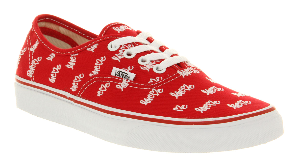 f5ae297efb Lyst - Vans Authentic Love Me X Vans Red in Red for Men