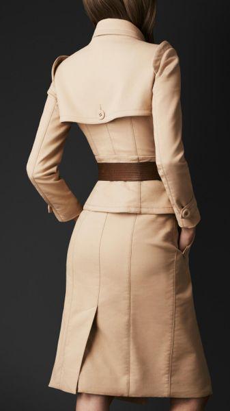 burberry prorsum corset trench coat in beige honey lyst. Black Bedroom Furniture Sets. Home Design Ideas