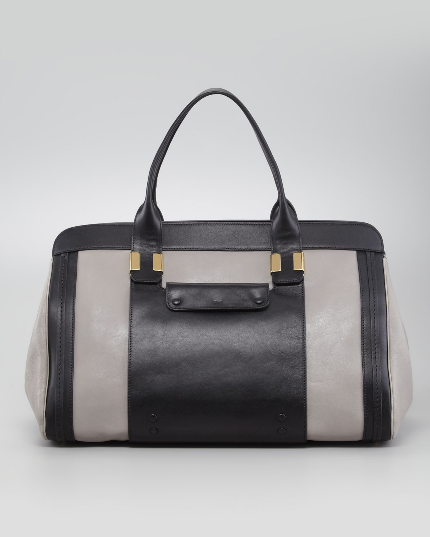 86250a056a Chloé Alice Large Tote Handbag Cashmere Gray