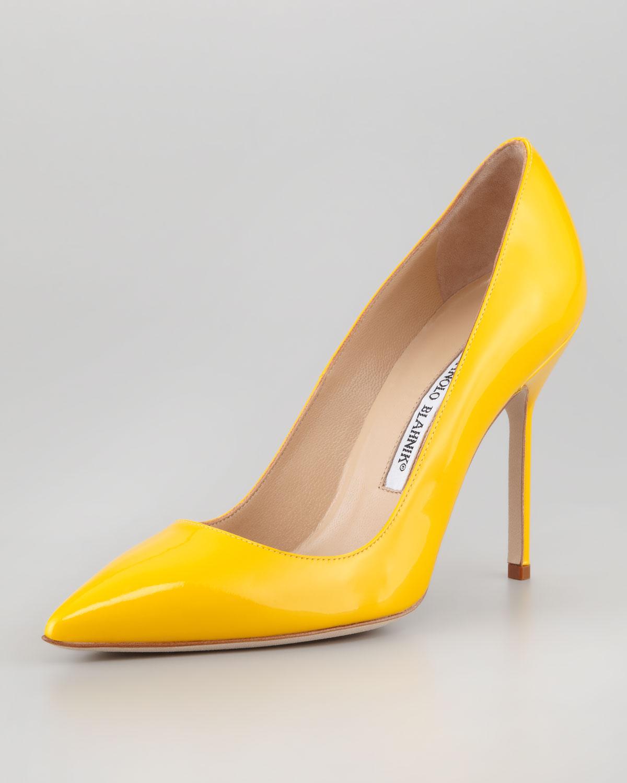 Yellow Low Heel Shoes