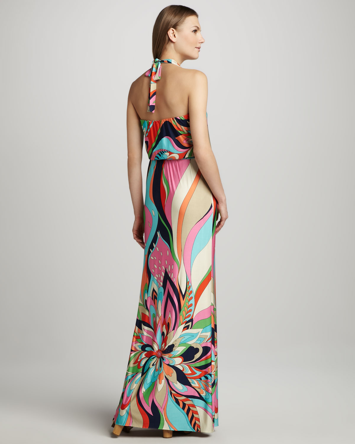 4abdbd64c91 Trina Turk Surfside Printed Halter Maxi Dress - Lyst