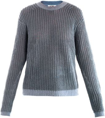 Acne Ninon Linen Sweater - Lyst