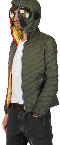 Ai Riders On The Storm Total Zip Up Quilted Down Jacket In
