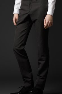 Burberry Prorsum Skinny Fit Wool Trousers - Lyst