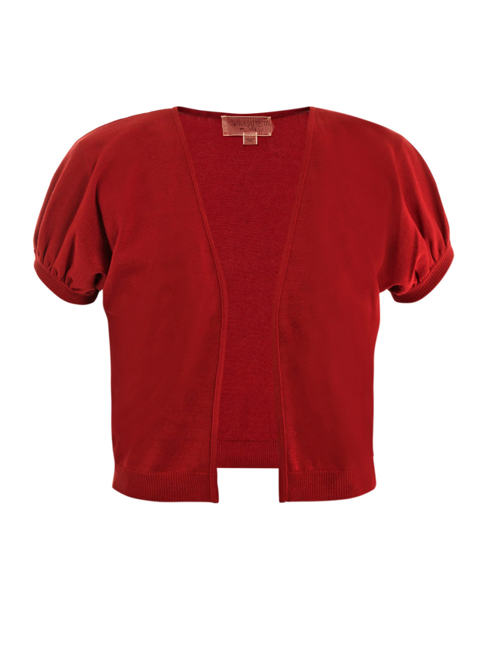 Gallery - Giambattista Valli Cropped Cardigan In Red Lyst