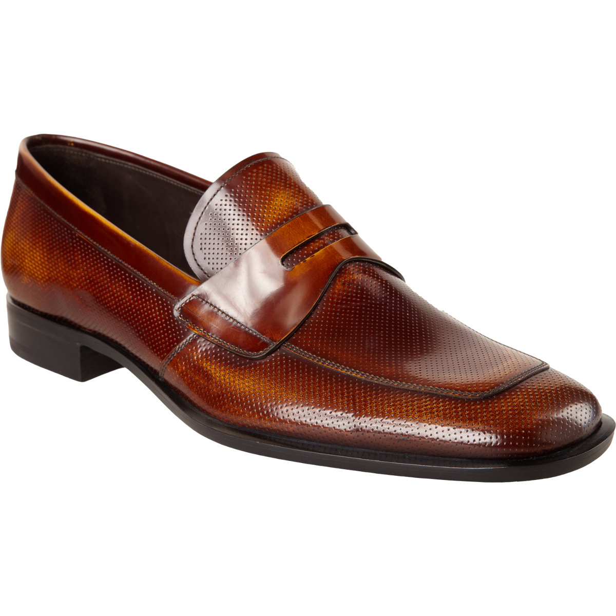62939ff8c24 ... australia prada perforated apron toe penny loafer in brown for men lyst  9df46 1d497