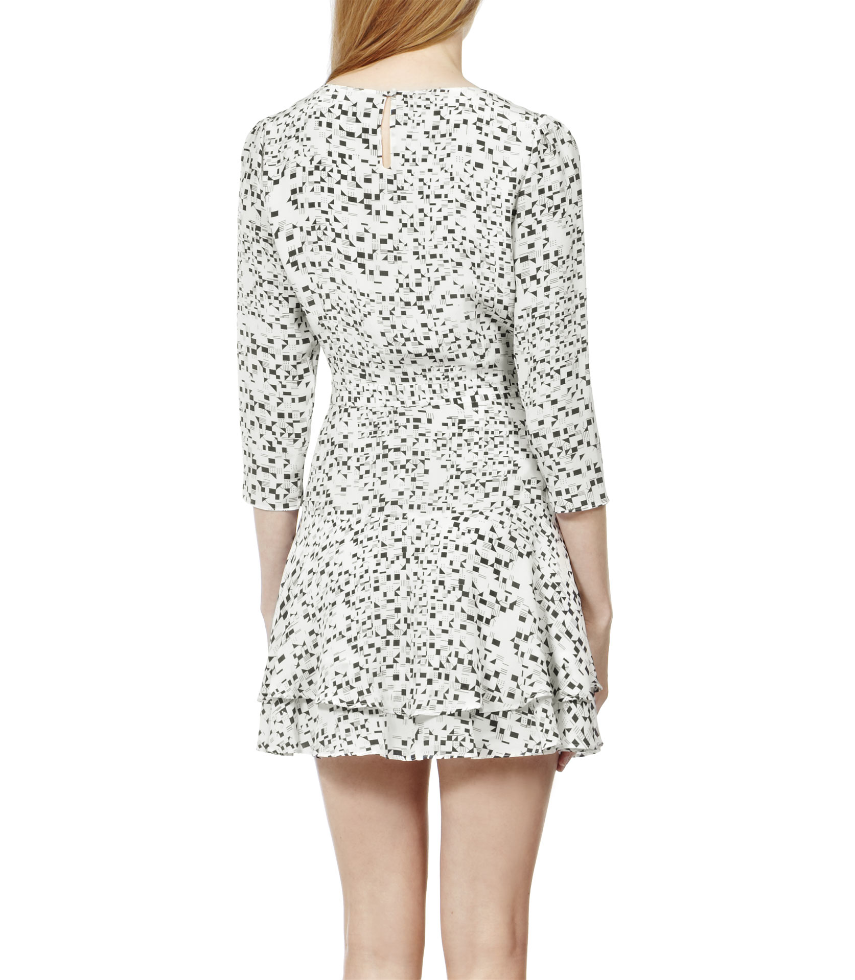 Reiss Painterly Print Dress In Cream Natural Lyst