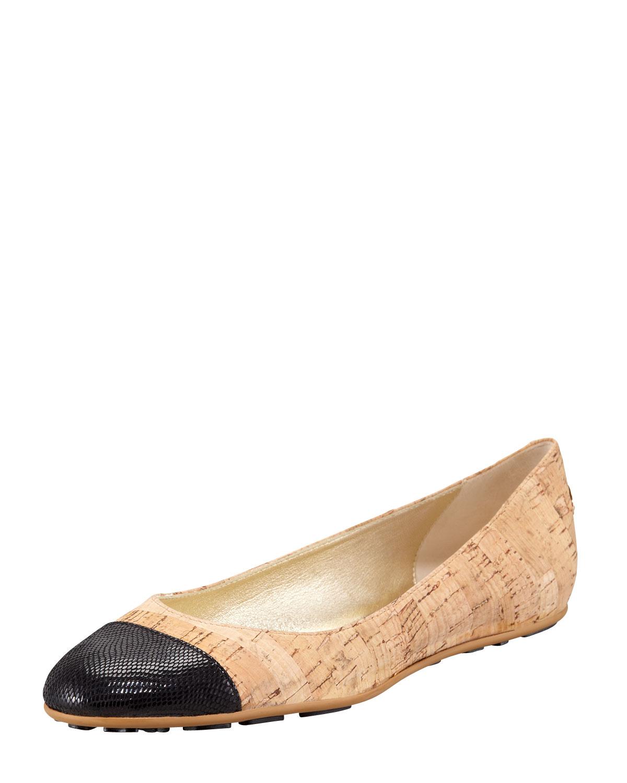 da6123e359e ... germany lyst jimmy choo whirl cork ballerina flat black in black a7c9a  fcf3f