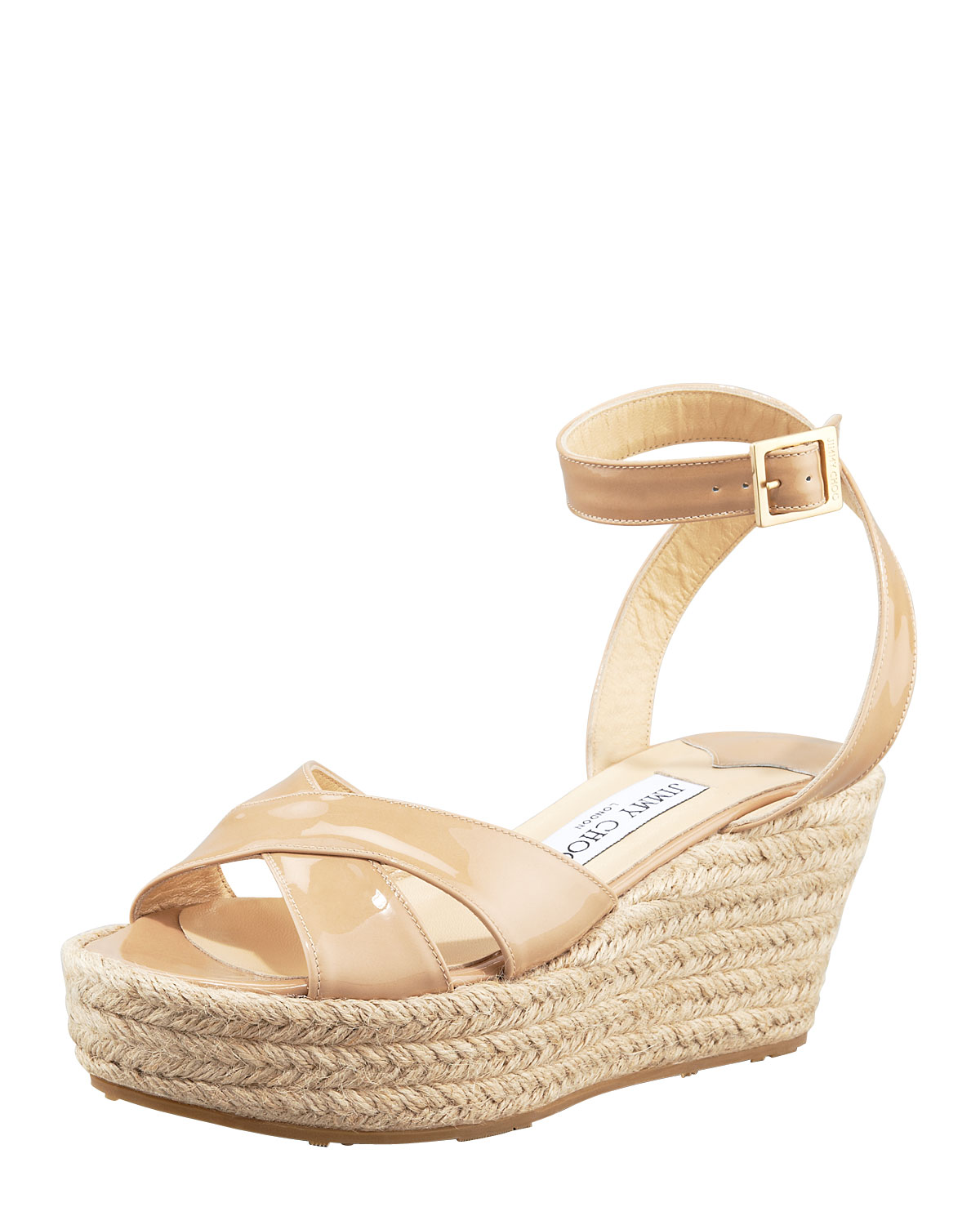 Jimmy Choo Mesh Wrap-Around Wedges cheap sale websites kvepeE9s1k