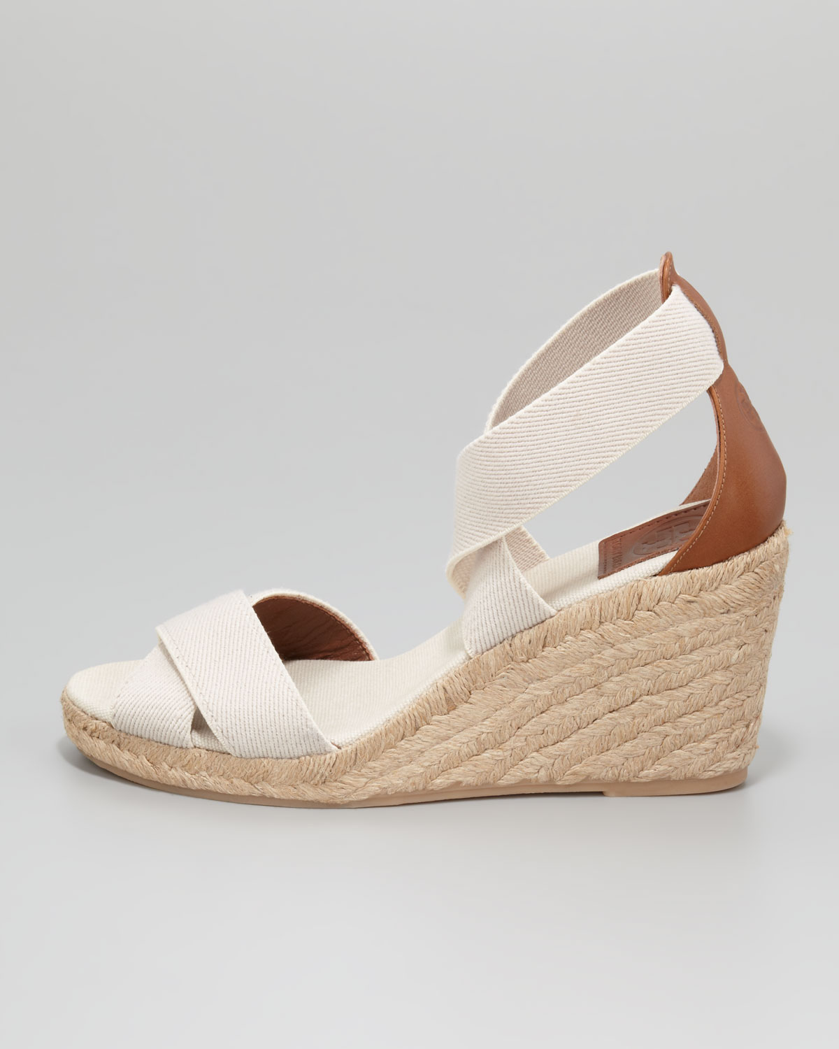 74d19658465 Tory Burch Natural Adonis Stretch Espadrille Wedges