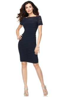 Adrianna Papell Pleated Cocktail Dress - Lyst