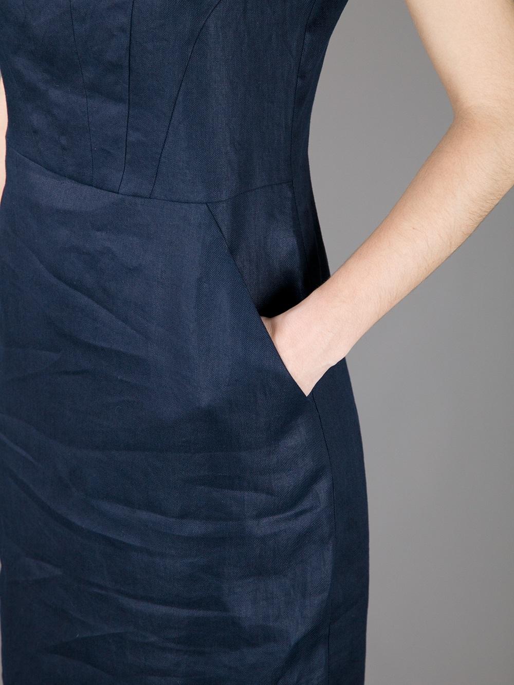 e69e5190177 Navy Blue Linen Dress Uk