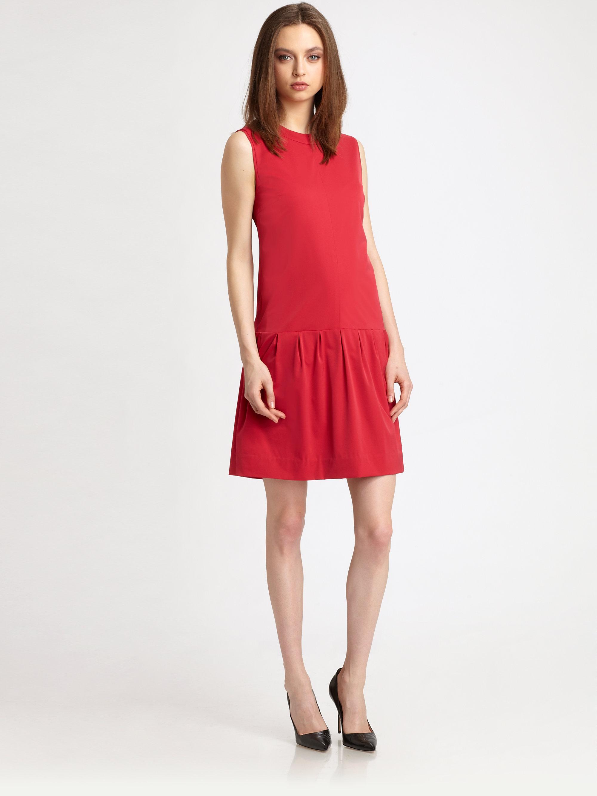 9b9198a761f Diane Von Furstenberg Maeryn Poplin Dropwaist Dress Size 12