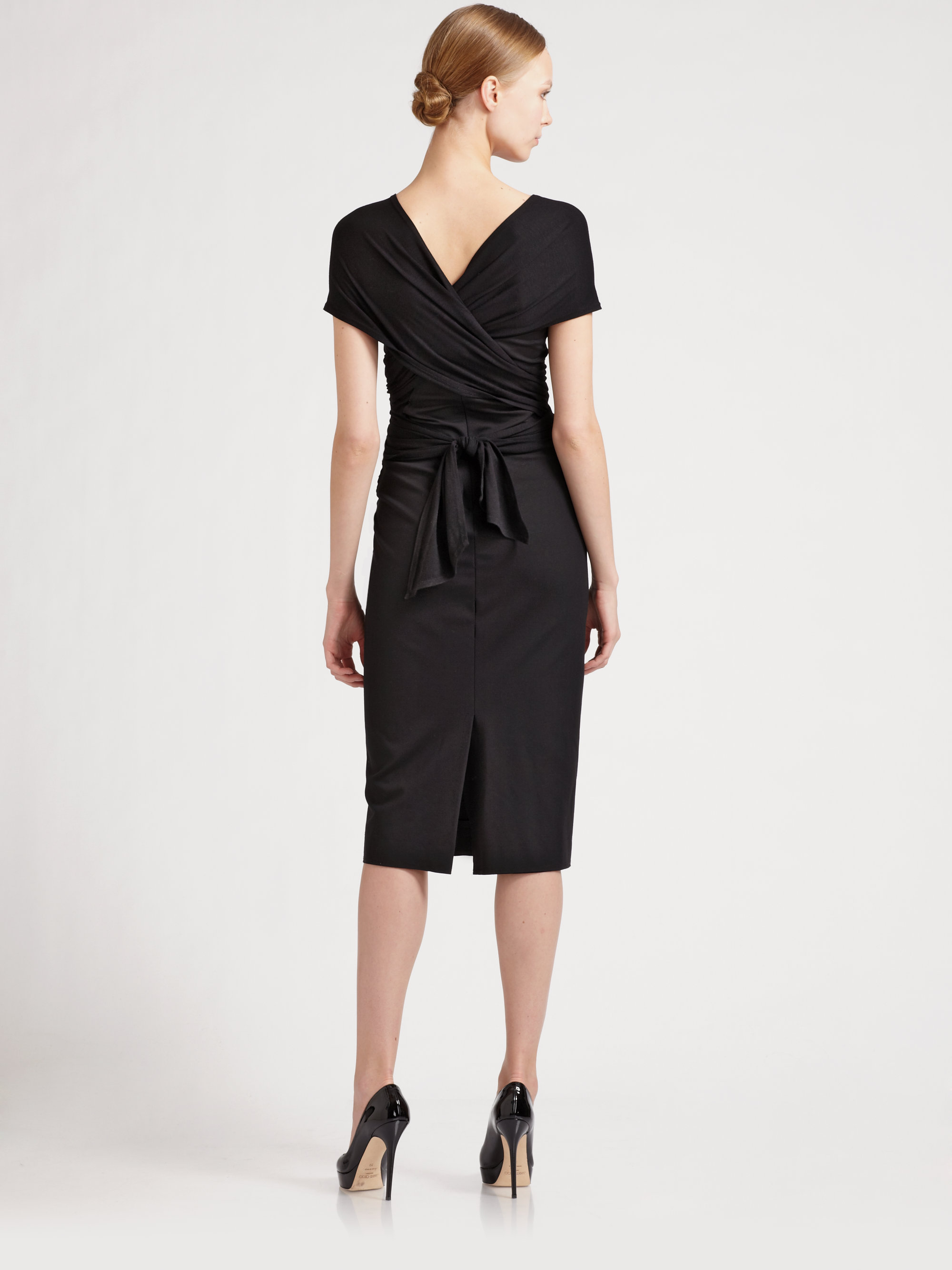 Donna Karan Sculpted Infinity Dress In Black Lyst