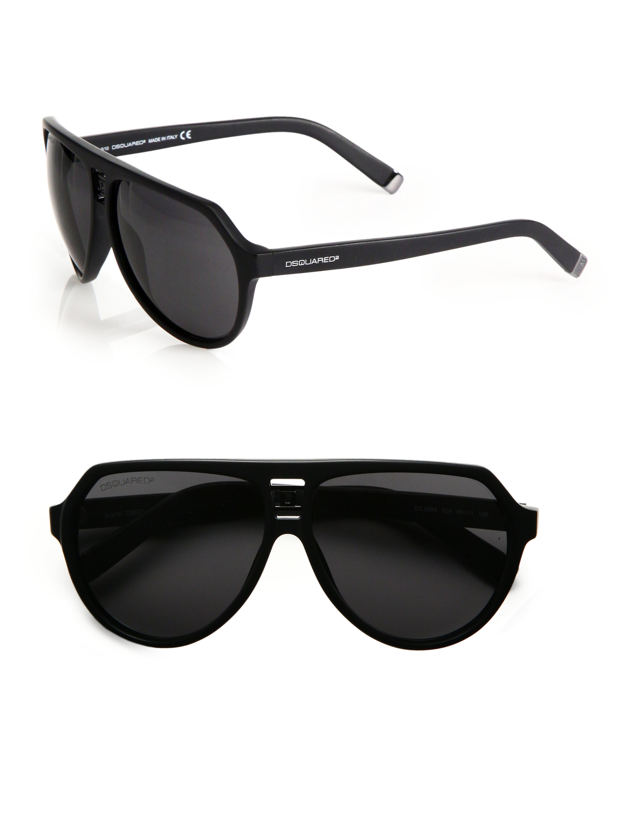 Dsquared² Aviator Plastic Sunglasses in Black for Men | Lyst