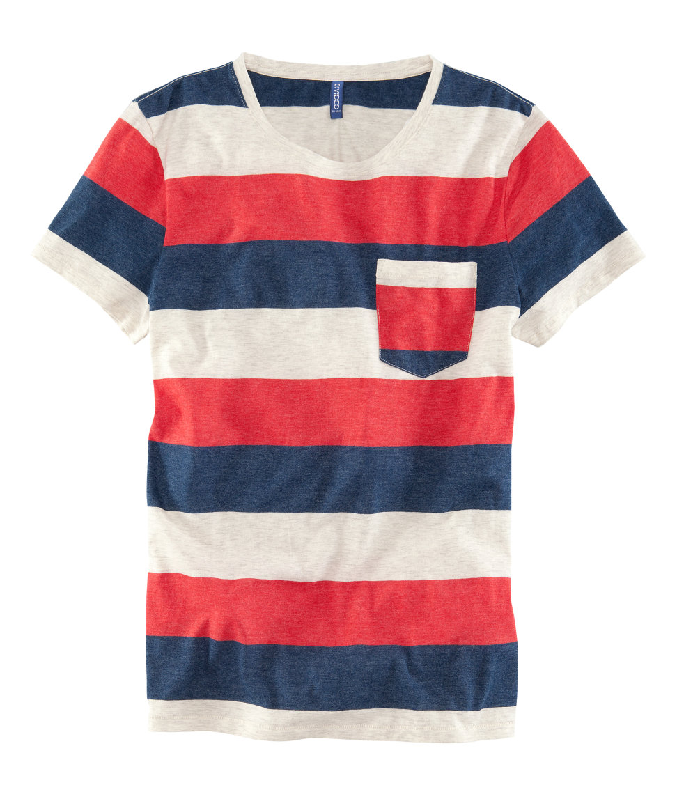lyst h m t shirt in red for men