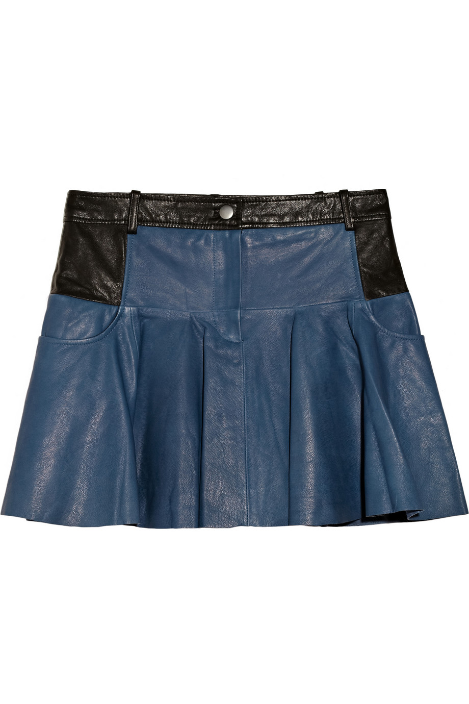 Thakoon addition Leather Mini Skirt in Blue | Lyst