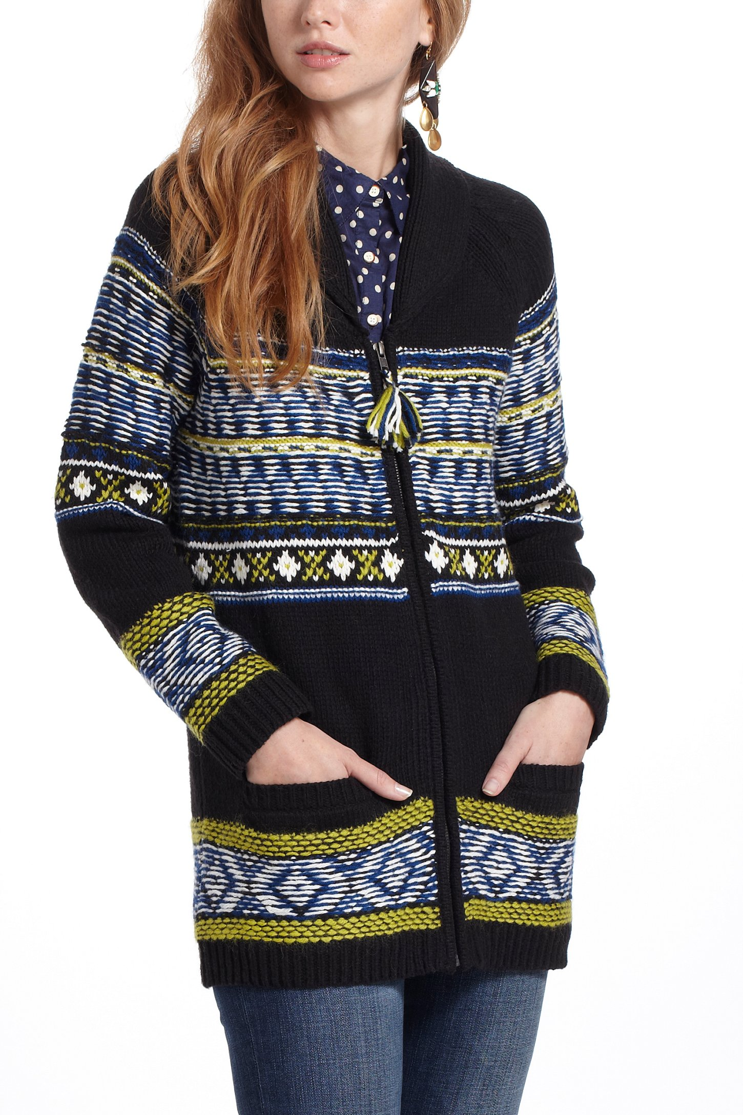 Anthropologie Batley Fairisle Sweatercoat | Lyst