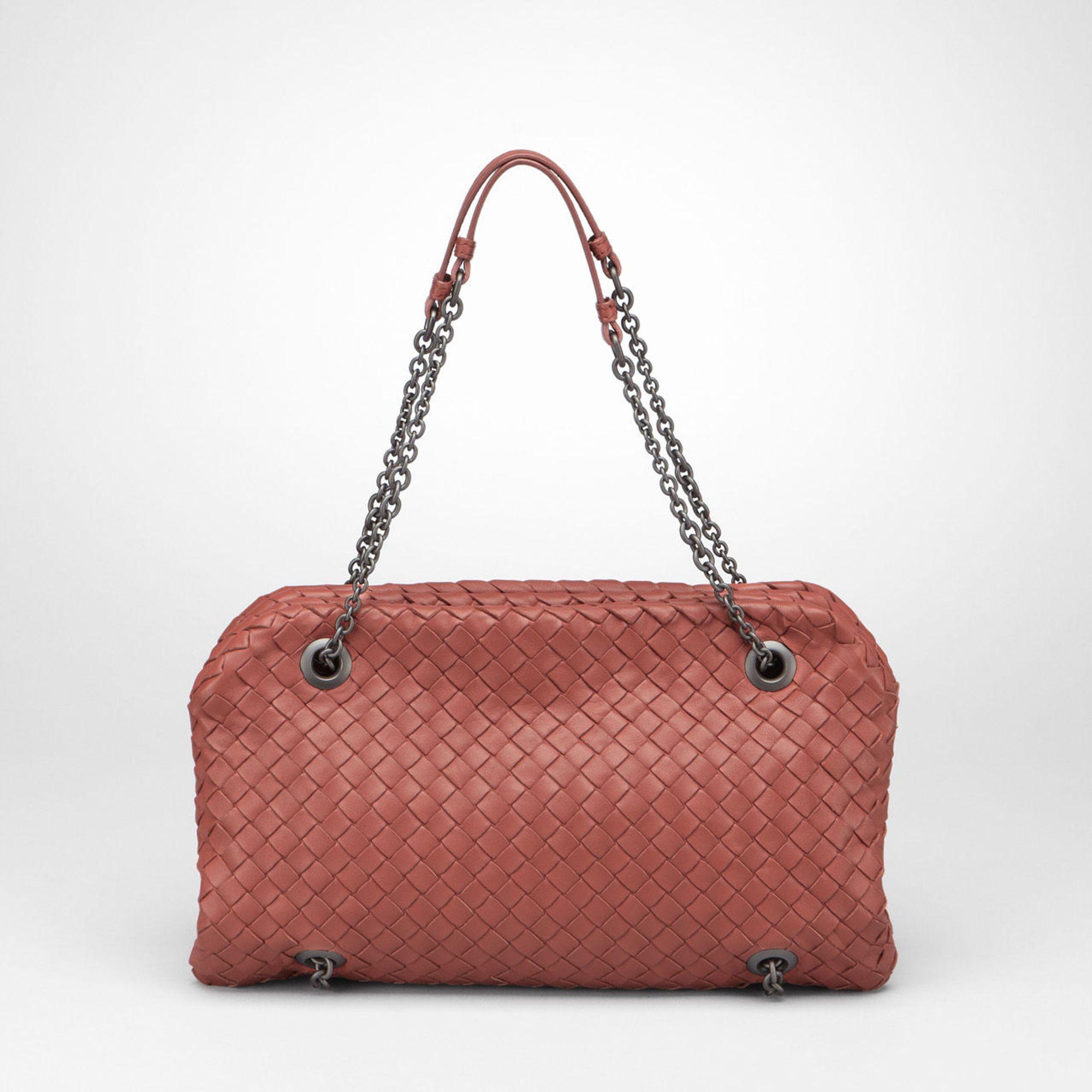 Bottega VenetaWomen's Brown Appia Intrecciato Nappa Duo Bag