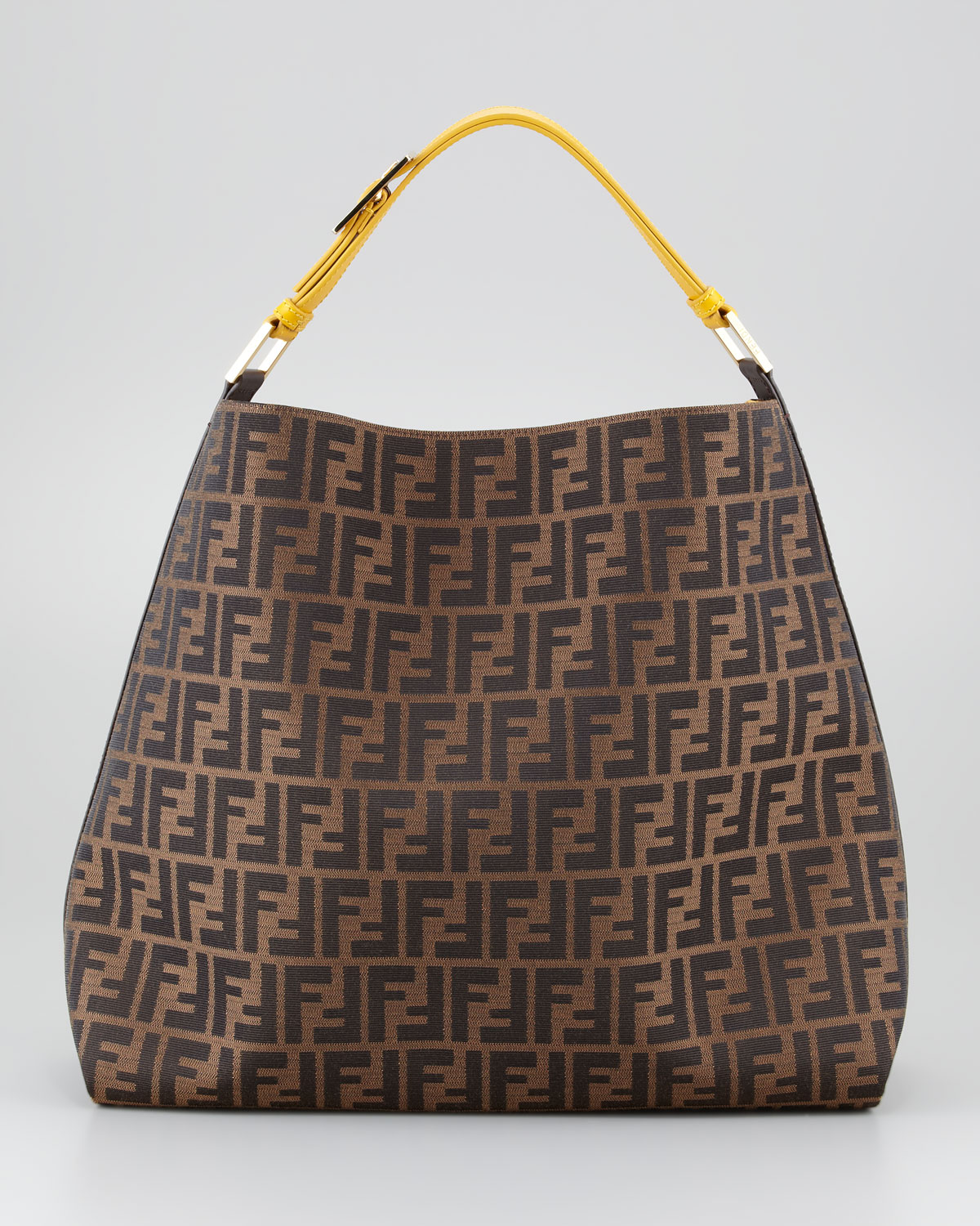 08cc872840 Fendi Zucca Large Hobo Bag in Brown (tobacco ochre)