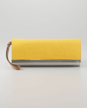Fendi Rush Colorblock Clutch Bag  - Lyst