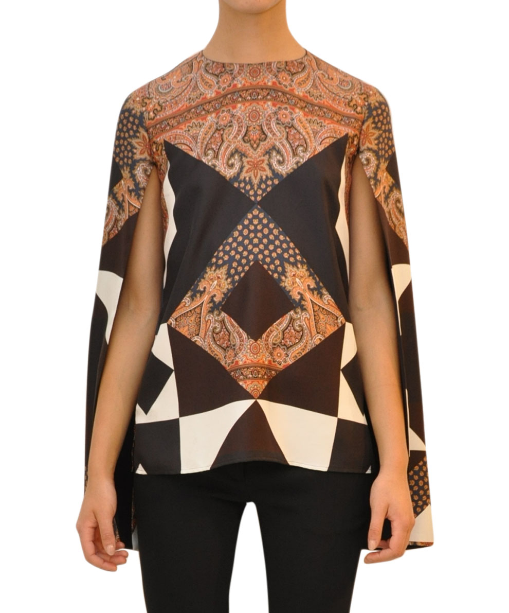 Givenchy Silk Blouse With Open Sleeves In Black Lyst
