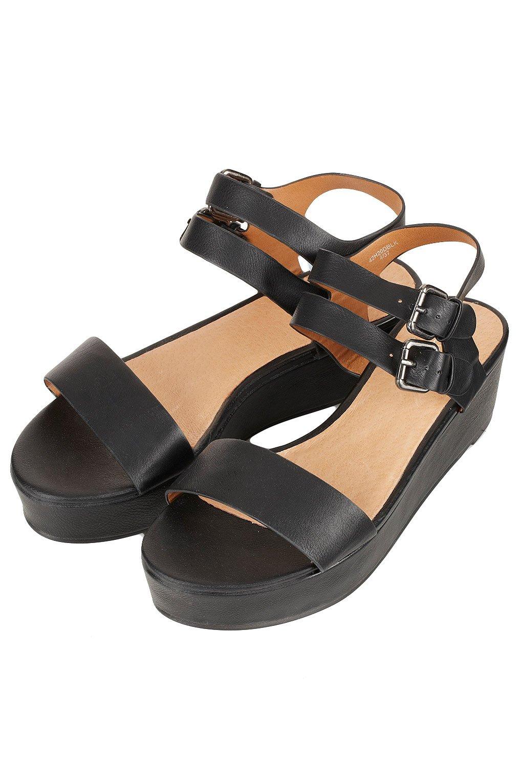 topshop flatform sandals in black lyst