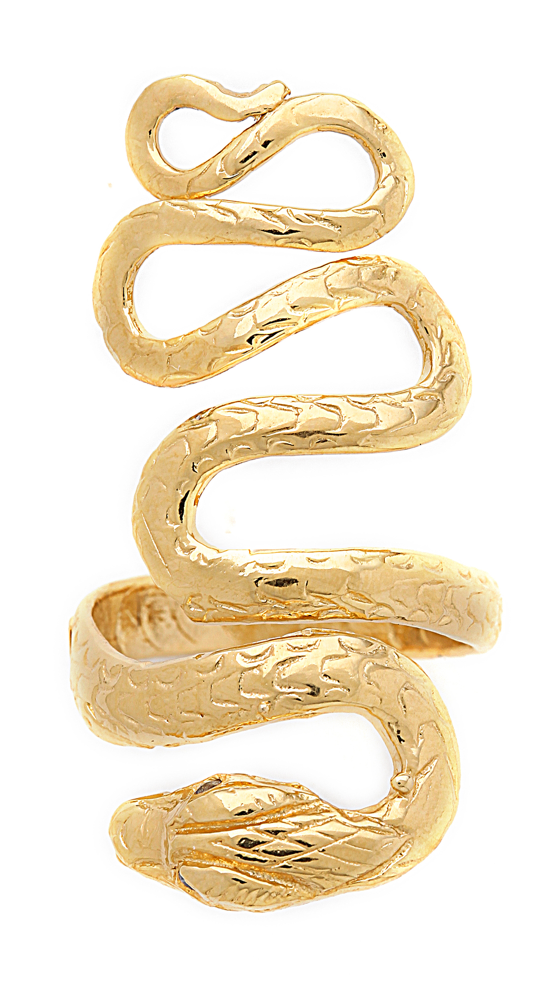 Lyst Jacquie Aiche Extra Long Snake Ring In Metallic