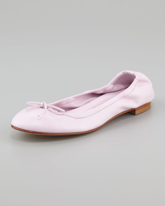 864d5f317a88 ... best price lyst manolo blahnik ballerina flats in pink ccd88 5530a