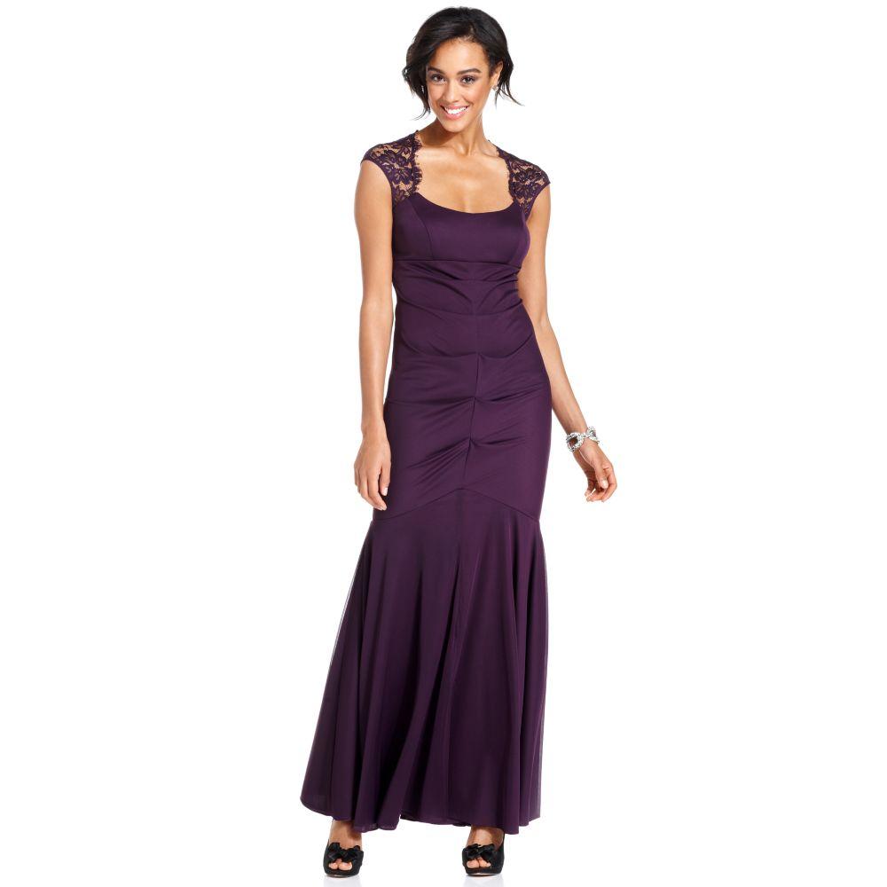 Xscape Dresses Long Purple