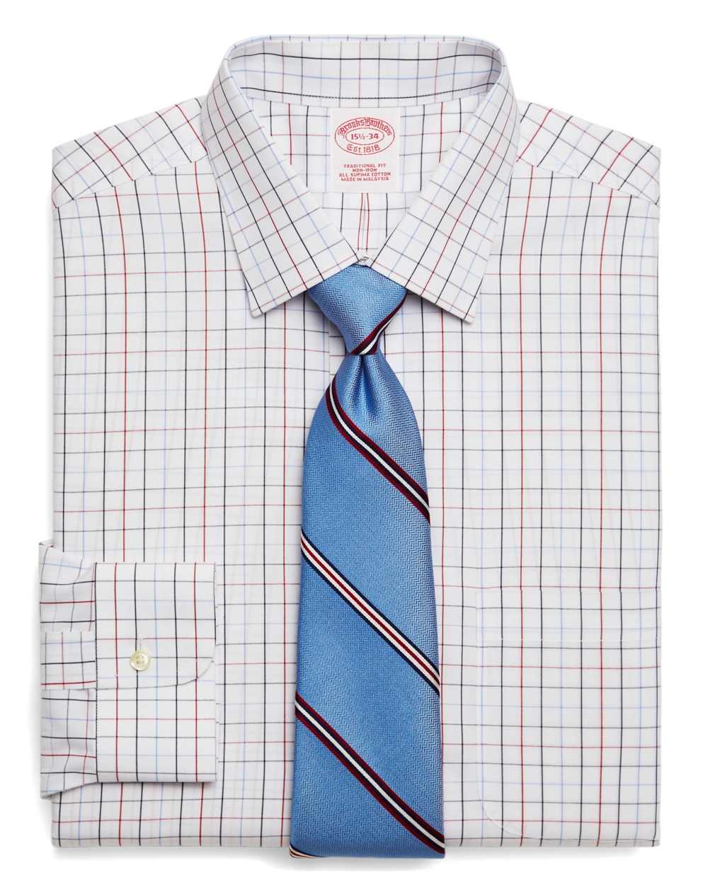 Lyst brooks brothers supima cotton non iron traditional for Supima cotton dress shirts