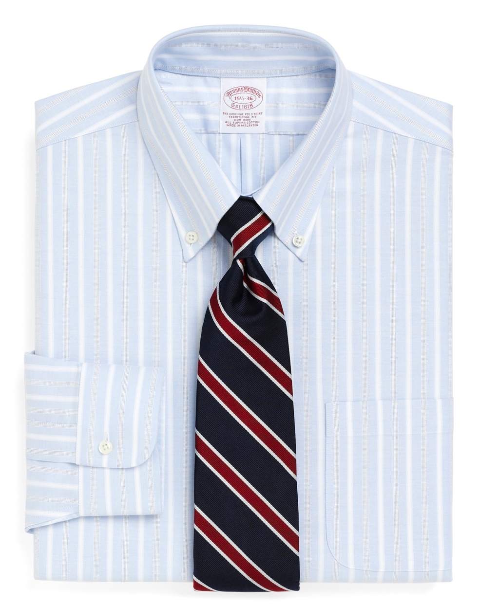 Brooks brothers supima cotton noniron traditional fit Brooks brothers shirt size guide